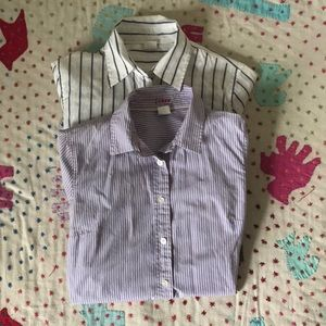 J Crew Kathryn button up shirts (2), size xs
